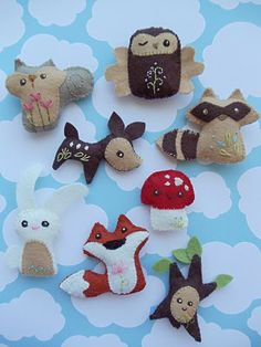 Mini felt animals