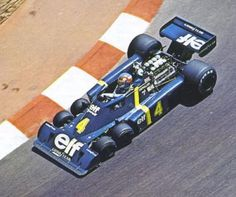 Patrick Depallier in the Tyrrell P34. I remember having a good look inside this in Monaco after the GP.