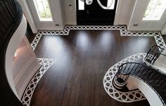 Entry Foyer Painted Floor Featuring Radial Geometry And Circular