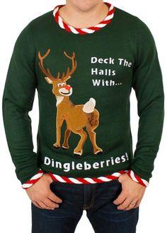 ugly christmas sweater reindeer dingleberries sweater i - Offensive Ugly Christmas Sweater
