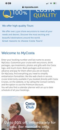 Cruise Insurance, Shore Excursions, Costa, Around The Worlds, Tours