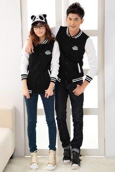 Korean Fashion Blue Couple Style Women'S Shirt
