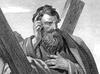 St. Andrew, patron saint of Scotland. One of the12 apostles of Christ.