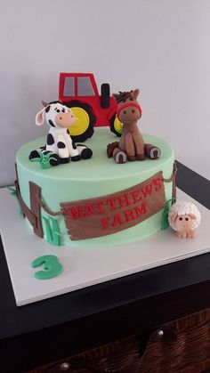 Farm Cake (with Tractor) - Homemade By Hollie