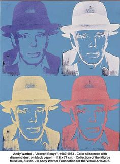 """Andy Warhol - """"Joseph Beuys"""", 1980-1983 by artimageslibrary, via Flickr🌑Fosterginger.Pinterest.Com🌑More Pins Like This One At FOSTERGINGER @ PINTEREST 🌑No Pin Limits🌑でこのようなピンがいっぱいになる🌑ピンの限界🌑"""