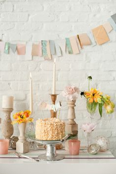 vintage shabby chic cake table