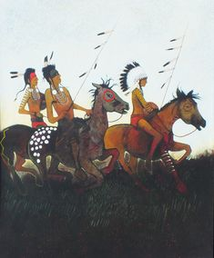 Counting Coup by Kevin Red Star kp Native American Artists, Star Art, Indian Paintings, First Nations, Indian Art, Painting Inspiration, Counting, Nativity, Poppies