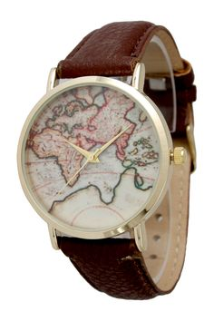 Love this world map watch //