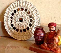 Lippan Work, Mud Mirror Work, Lippan work on wooden panel. Mirror Crafts, Mirror Art, Mirrors, Clay Wall Art, Clay Art, Mural Painting, Mural Art, Rajasthani Art, Eyes Artwork