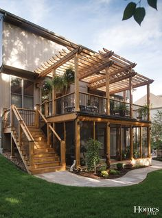Deck Supply Fireplace Henges Insulation Furniture screened-in porch Pottery Barn Furniture deck Seasonal Concepts Hanging plants most Style At Home, Outdoor Spaces, Outdoor Living, Outdoor Patios, Pottery Barn Furniture, Verge, Patio Deck Designs, Back Deck Designs, Decks And Porches