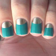 Golden & Turquoise Nails - Uñas doradas y turquesa