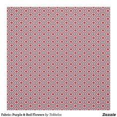 Fabric: Purple & Red Flowers