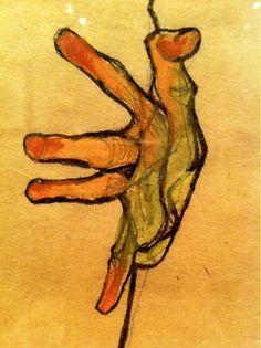 Hand Study, 1912 Egon Schiele