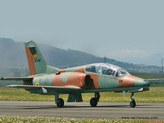 Zimbabwe Air force K-8E Karakorum (also known as Hongdu JL-8). Chinese/Pakistan built two seat intermediate jet trainer & light attack a/c, manufactured by Nanchang Aircraft.
