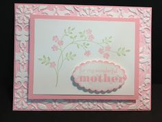 Thoughts & Prayers Mothers Day Card Stampin' Up! Rubber stamping