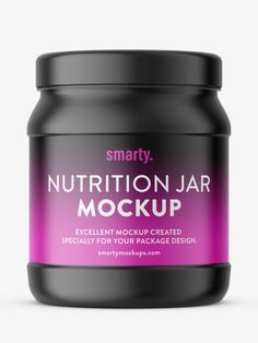 Mockup of popular nutrition jar. Mockup is prepared with ability to paste your own label. Pharmacy, Mockup, Packaging Design, Label, Nutrition, Jar, Apothecary, Design Packaging, Miniatures