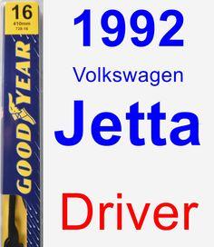 Driver Wiper Blade for 1992 Volkswagen Jetta - Premium