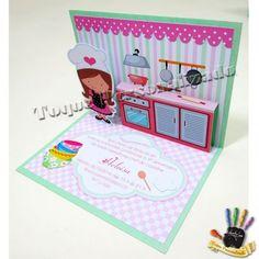 Convite 3D Chef - 10x15