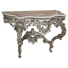 Antique Italian Baroque Pietra Dura Console