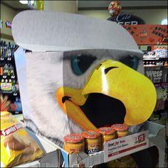 Lay's Eagle Potato Chip Display Fall Football, Football Team, Team Mascots, Point Of Purchase, Store Fixtures, Philadelphia Phillies, Potato Chips, Hooks, Eagle