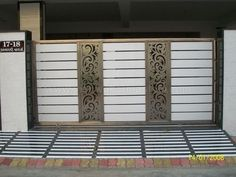New Main Door Design Entrance Indian Steel Ideas Gate Wall Design, Home Gate Design, Grill Gate Design, Front Wall Design, House Main Gates Design, Steel Gate Design, Iron Gate Design, Main Door Design, House Front Gate