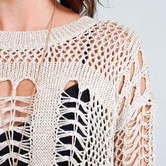 Open Knit Sweater. perhaps.