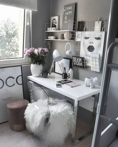 Over 25 small home office ideas for men and women (space-saving layout .,Over 25 small home office ideas for men and women (space-saving layout) - home office ideas room decoration room decor room de. Cozy Home Office, Home Office Design, Home Office Decor, Home Decor Bedroom, Home Design, Design Ideas, Cozy Bedroom, Office Designs, Wall Design