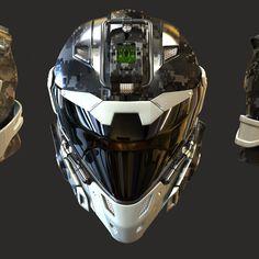 Helmet by David de Leon on ArtStation.
