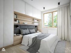 Mieszkanie 92m2 - Średnia sypialnia małżeńska, styl nowoczesny - zdjęcie od Pracownia Architektoniczna Małgorzaty Górskiej-Niwińskiej