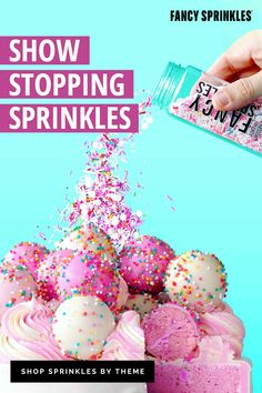 These are not ordinary sprinkles. They are the Gucci of sprinkles. Sprinkles are for winners. Be a winner. Cupcakes, Cake Cookies, Sugar Cookies, Cupcake Cakes, Pound Cake Recipes, Cheesecake Recipes, Cupcake Recipes, Dessert Recipes, Cake Decorating Tips