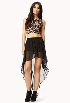 High-Low Chiffon Skirt | FOREVER 21 - 2021103848