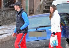 Prince William and girlfriend Kate Middleton vacation in the French Alps with Kate's sister Pippa and some friends