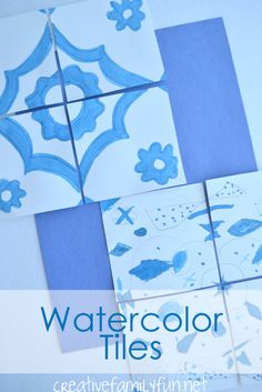 Watercolor Tiles: Exploring the World Through Art
