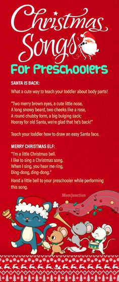 15 Most Popular Christmas Songs For Your Toddlers : Check the easy & fun christmas songs for toddlers that they won't have trouble remembering. Infact it is the time to sing some lovely hymns & Christmas carols. Christmas Songs For Toddlers, Preschool Christmas Songs, Popular Christmas Songs, Preschool Songs, Toddler Christmas, Christmas Music, Kids Songs, A Christmas Story, Christmas Carol