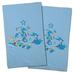 Sea Life Christmas Tree Hand Towel (Set of 2)