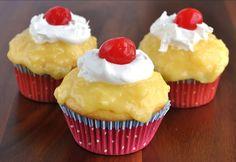 Aloha Butter Rum Pineapple Cupcake