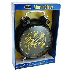 DC Comics Old Skool Batman Very Large 12 Inch Analog Alarm Clock @ niftywarehouse.com
