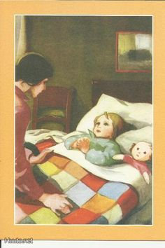 Martta Wendelin 40337 - not available Childrens Christmas, Christmas Art, Girl Face Drawing, Fun Illustration, Art For Art Sake, Illustrations And Posters, Mothers Love, Vintage Cards, Vintage Children