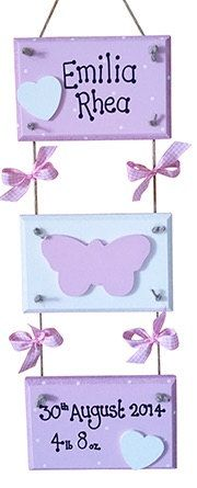 Baby Three Tier Plaque New Baby Gift by PreciousParcelsUK on Etsy