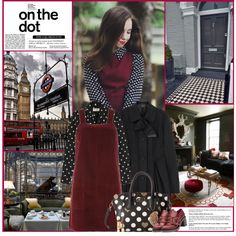 How To Wear On The Dot Outfit Idea 2017 - Fashion Trends Ready To Wear For Plus Size, Curvy Women Over 20, 30, 40, 50
