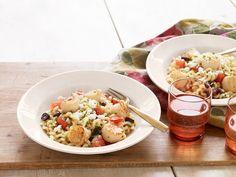 mediterranean herbed scallops athenos feta cheese