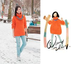 Cheap Monday Jeans, Jil Sander Shoes | Warm colors in sea of ice. (by Nancy Zhang) | LOOKBOOK.nu