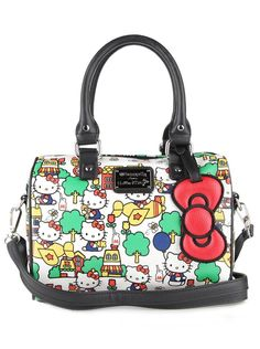 Loungefly has delivered another darling Hello Kitty duffel with retro 2a8740bd21099