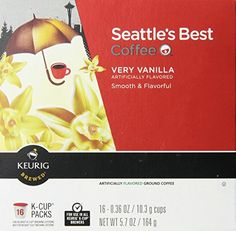 Seattles Best Coffee  Very Vanilla Kcup 16 Packs 2 Pack  32 Kcups ** Check this awesome product by going to the link at the image.