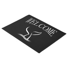 The tail of a whale breaks the water. Simple design Whale Tale Welcome Doormat by kahmier View other Sea Door Mats at Zazzle.com