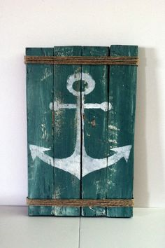 Hey, I found this really awesome Etsy listing at https://www.etsy.com/listing/187379994/pallet-anchor-sign-rustic-lake-decor