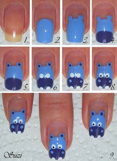 Hippo Nails - tutorial
