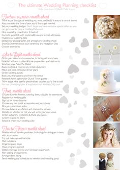Free Wedding Planner Checklist! | Yes Baby Daily