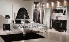 ślicznie na tablicy Interiors&Design przypisanej do kategorii Design Black Bedroom Furniture, Living Room Furniture, Home Furniture, Bedroom Sets, Bedroom Decor, Bedroom Themes, Bedroom Designs, Master Bedroom, Hollywood Bedroom