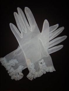 Sheer Powder Blue Gloves Reserved for Jenni Bride Gloves, Ladies Gloves, Mitten Gloves, Mittens, Ladies Accessories, Vintage Gloves, Dress Gloves, Love Blue, Jenni